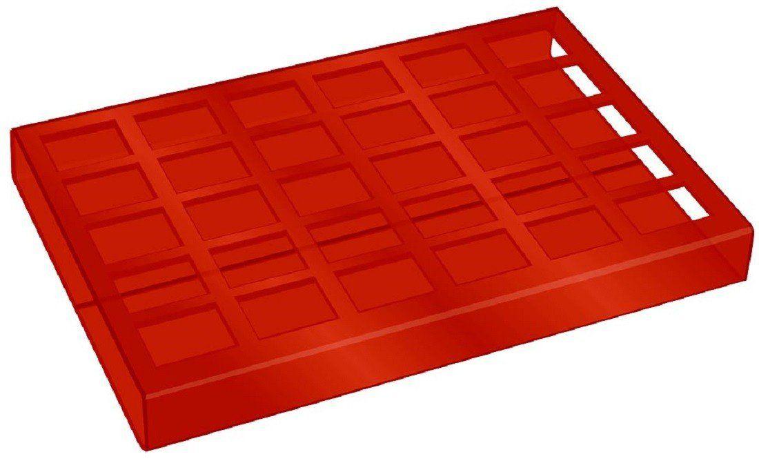 Expositor de Esmaltes Vermelho com 30 cavidades - Santa Clara