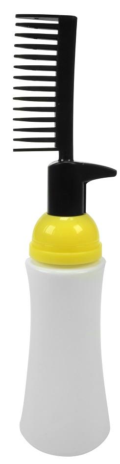 Frasco Pl Stico Com Pente Aplicador Para Tintura V Lvula Pump