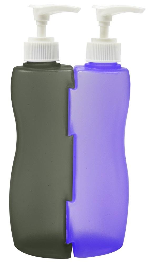 Frascos Bicolor Vazio Com Válvula Pump 210ml - 2 Unidades