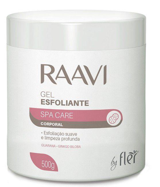 Gel Corporal Esfoliante com Guaraná e Ginkgo Biloba 500g - Raavi