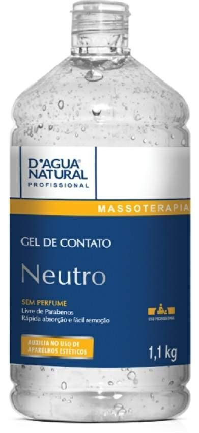 Gel de Contato Neutro 1,1kg - D'agua Natural