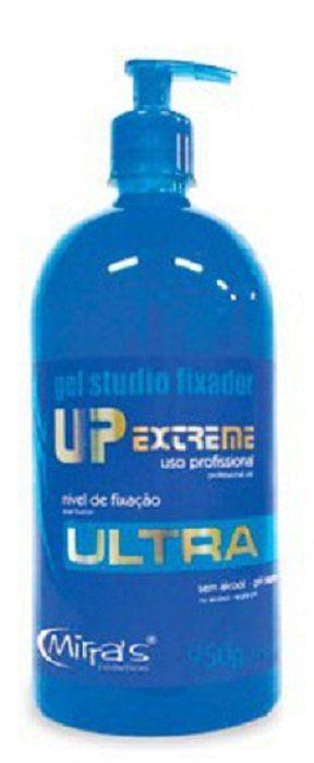 Gel Studio Fixador UP Extreme Sem Álcool Azul - Mirra´s 950g