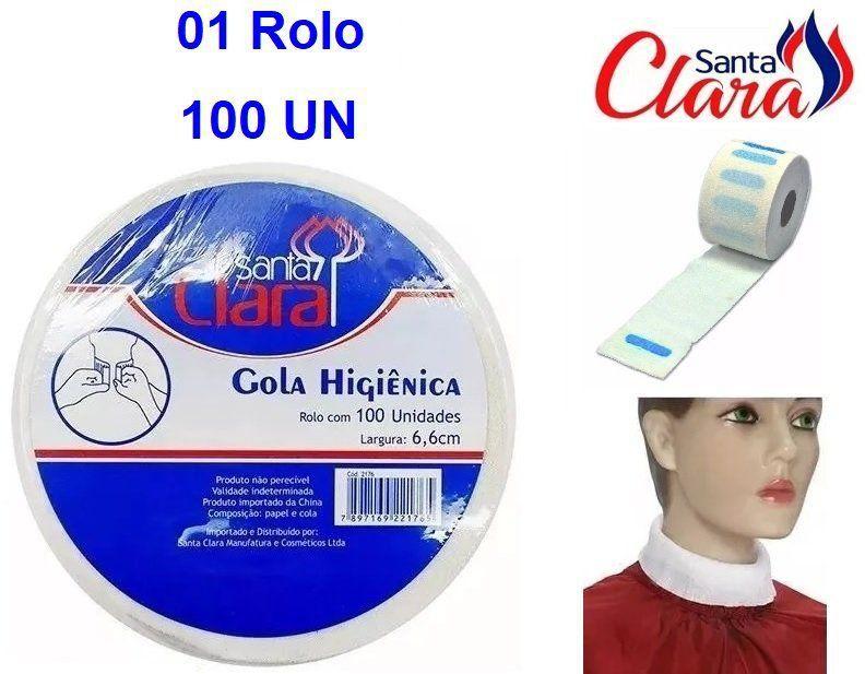 Gola Higiênica - Pacote com 01 Rolo - Total 100 Golas - Santa Clara
