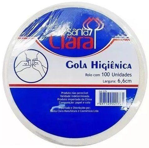 Gola Higiênica - Pacote com 50 Rolos - Total 5000 Golas - Santa Clara