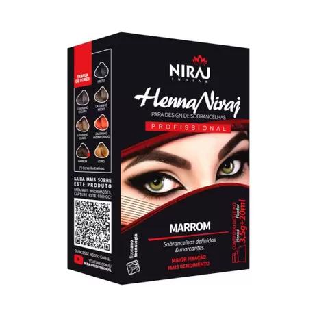 Henna Niraj Para Design de Sobrancelhas Profissional Marrom - 3,5g