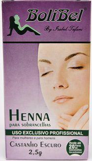 Henna Para sobrancelhas Castanho Escuro