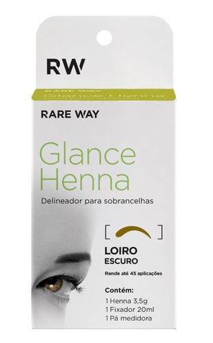 Henna Para Sobrancelhas Loiro Escuro - Rare Way