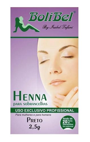 Henna Para sobrancelhas Preta - Bolibel