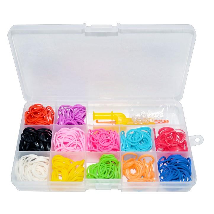 Kit De Elásticos Coloridos Para Fazer Pulseiras - 600 Elásticos Sortidos