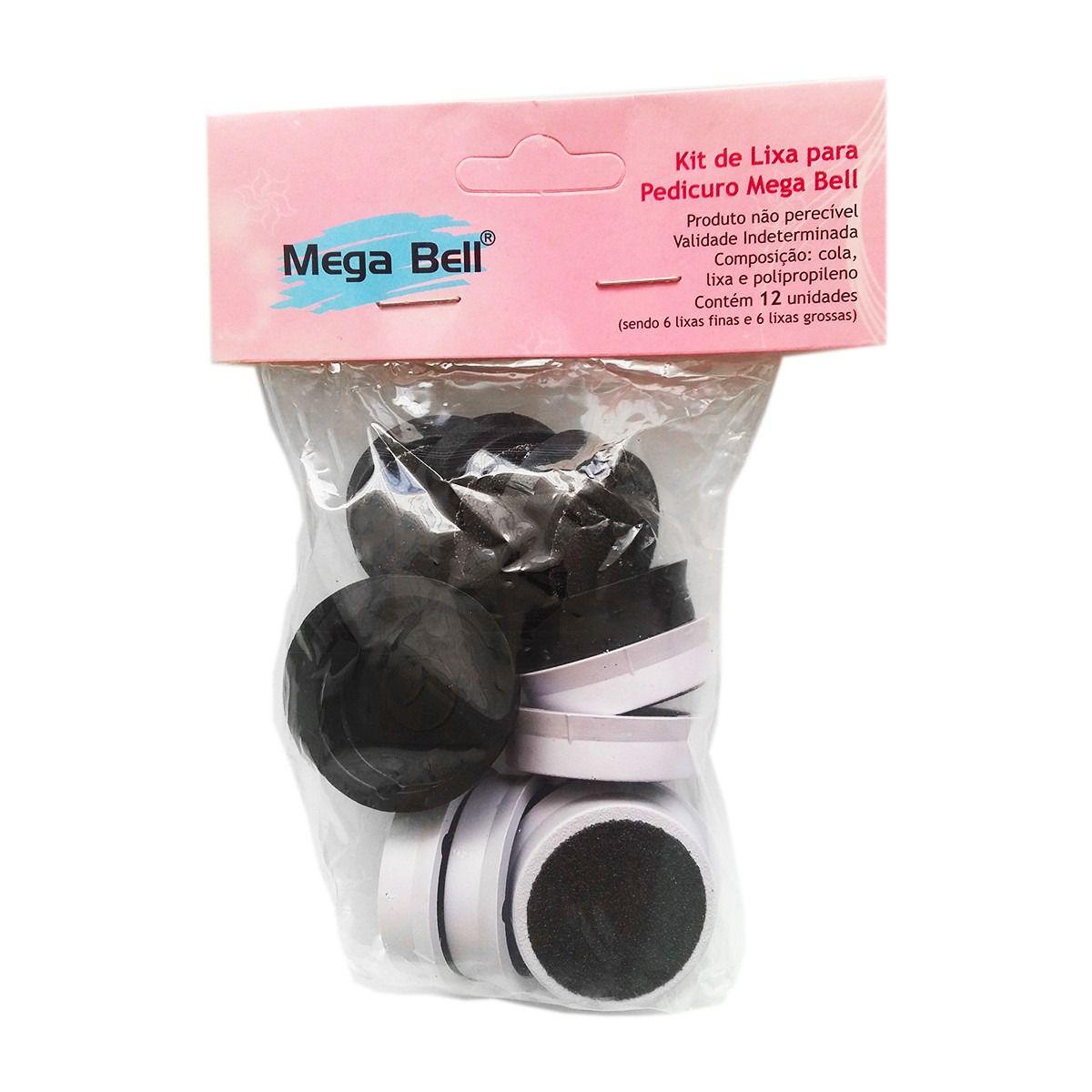 Kit de Lixas Descartáveis para Pedicuro Mega Bell - 12 lixas