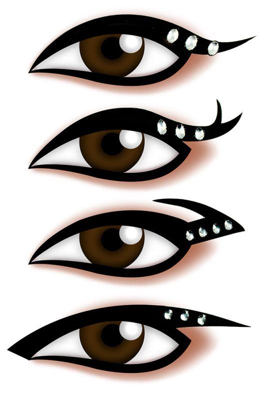 Armario Multiuso Para Lavanderia ~ Kit Delineador Adesivo Para os Olhos EYE 1904