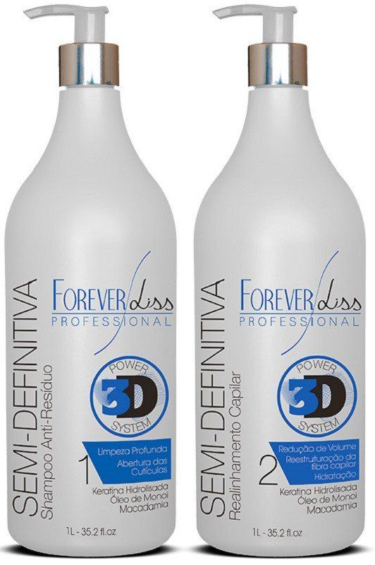 Kit Escova Semi-Definitiva Power 3D System 2x1L– Forever Liss