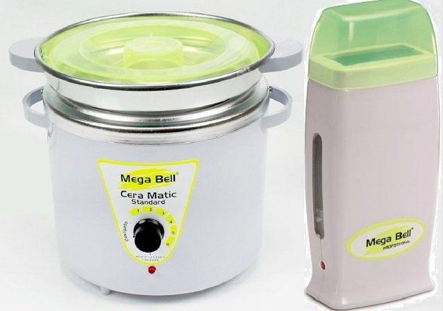 Kit Panela Depilação Termocera 900g Com Refil Branca Com Verde Limão + Aquecedor de Cera Roll-on Verde Limão