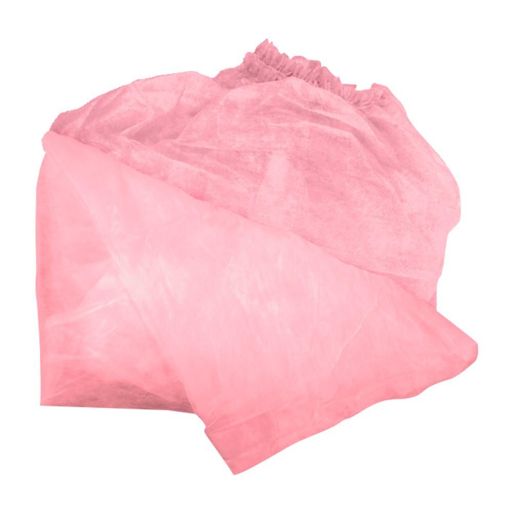 Lençol Descartável Não Tecido Com Elástico- Rosa- 15 unidades