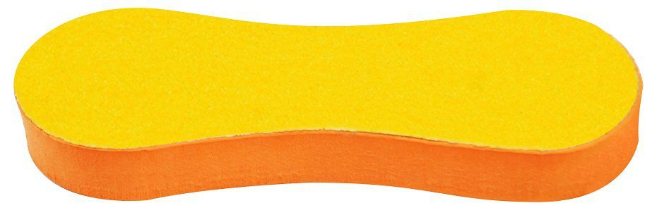 Lixa Anatômica Em E.V.A 15mm Para Pés - Preta/Amarela 01 Unidade
