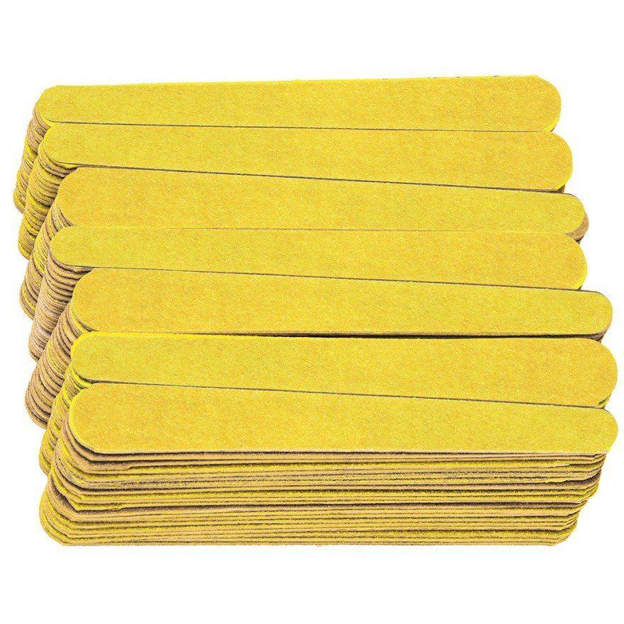 Lixa Média Para Unhas Amarelo Canário 144 Unidades - Santa Clara