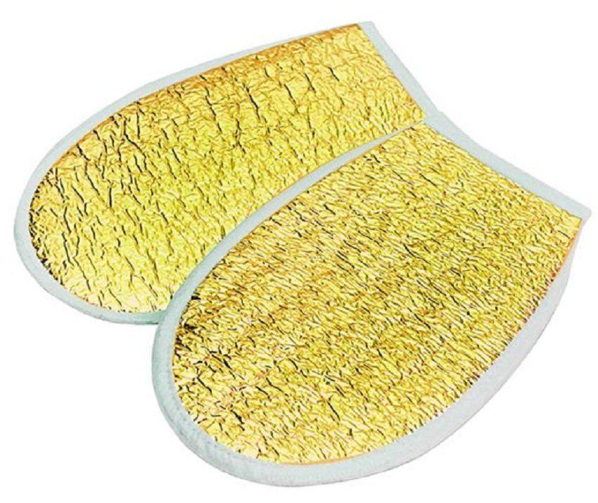 Luva Metalizada Dourada Com Isolmanta - Par
