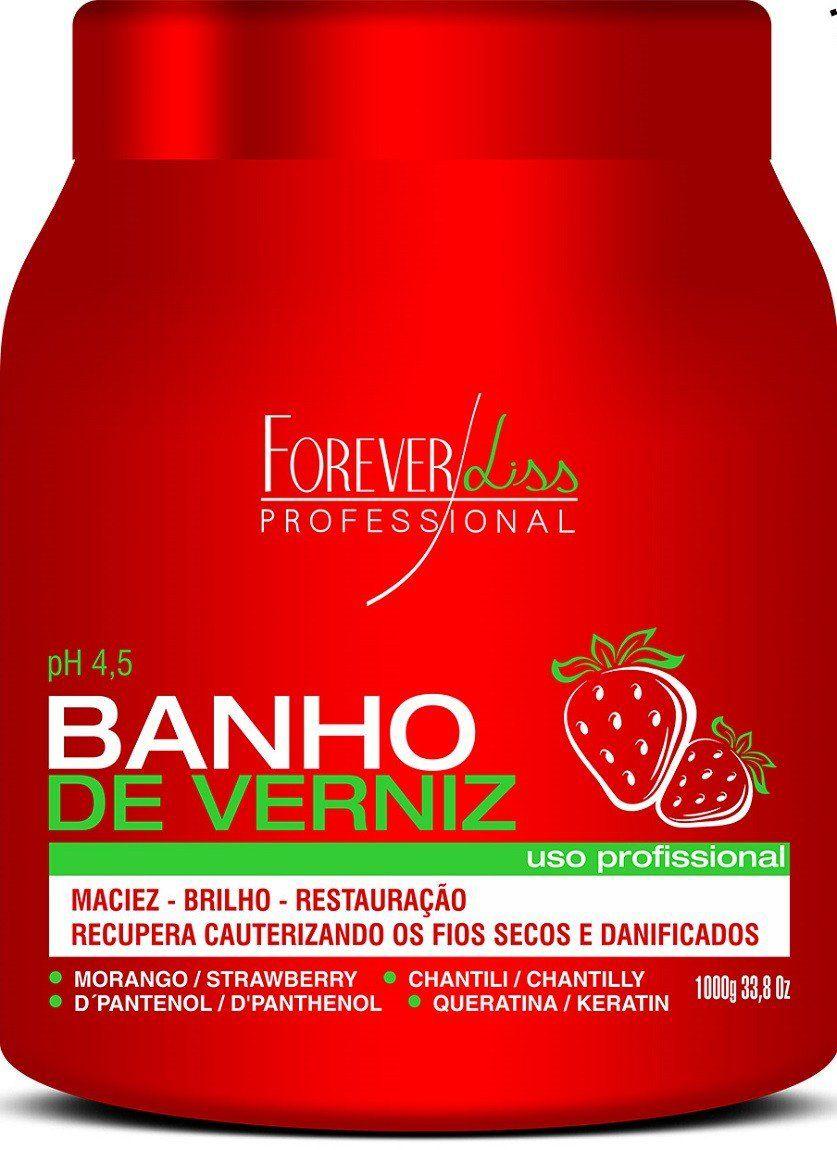 Máscara Banho de Verniz Morango 1Kg - Forever Liss