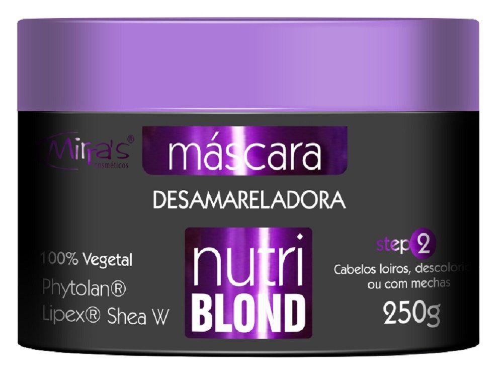 Máscara Desamareladora Nutri Blond 250g - Mirra´s