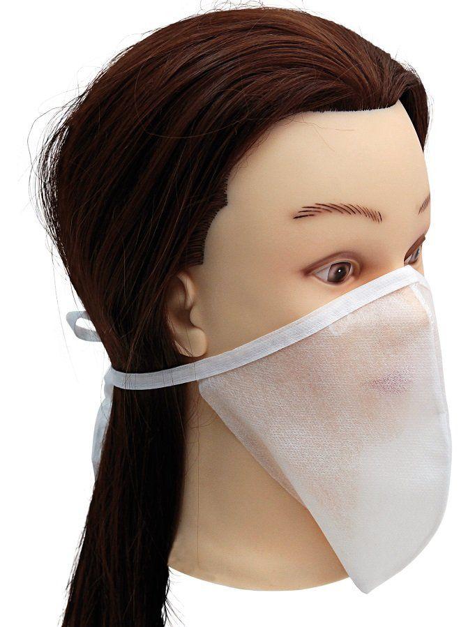 Máscara Descartável Oval Luxo Em TNT Com Tira - Santa Clara