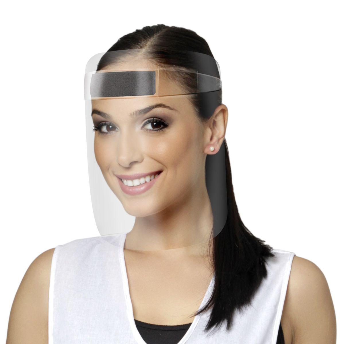 Máscara Facial Protetora 10 UN Anti Respingos e Gotículas - Santa Clara
