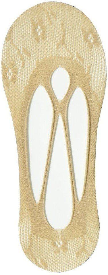 Meia Bege Modelo Sapatilha Feminina  01 Par - Importada
