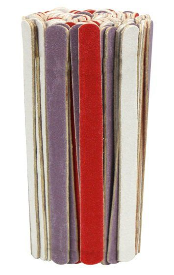Mini Lixa Para Unhas Colorida Com 100 unidades - Santa Clara