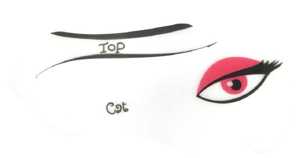 Molde Delineador Olho de Gatinho Com 2 Unidades - Santa Clara