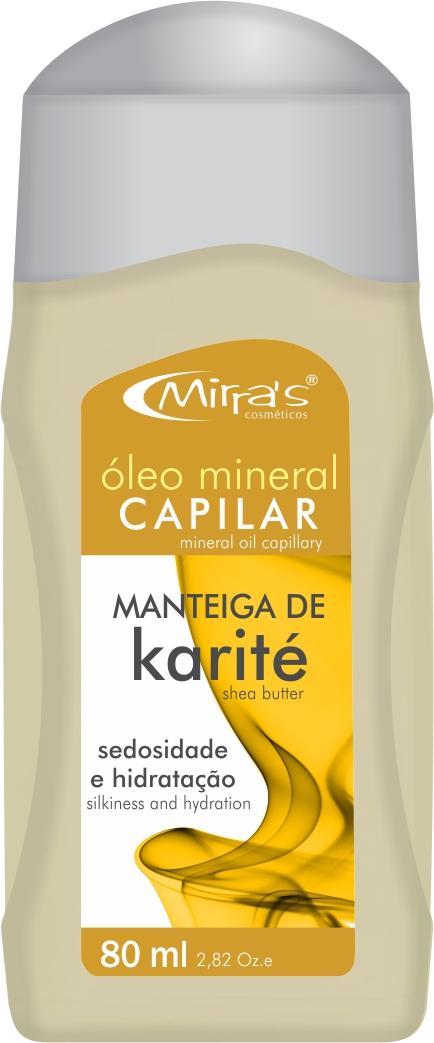Óleo Mineral Capilar Manteiga De Karité 80ml - Mirra´s