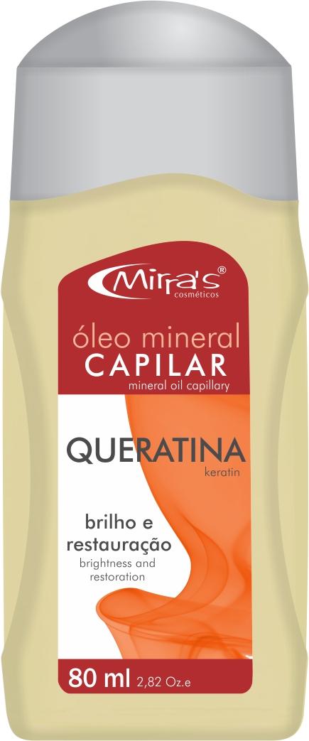 Óleo Mineral Capilar Queratina 80ml - Mirra´s