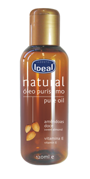 Óleo Natural de Amêndoas Doce + Vitamina E Ideal - 120ml