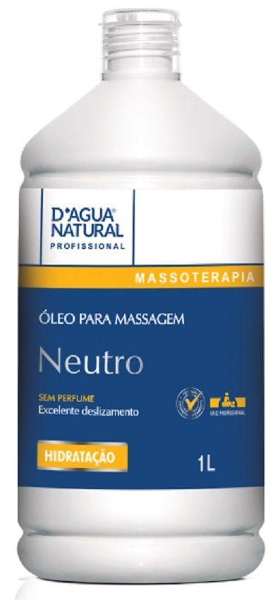 Óleo para Massagem Neutro Hidratação e Elasticidade 1L- Dágua Natural