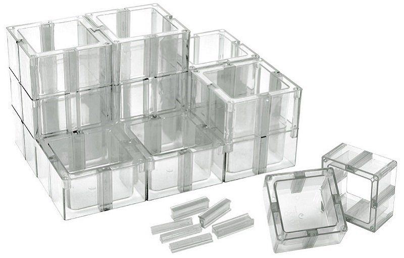 Organizador Multiuso Transparente com 12 Unidades - Santa Clara