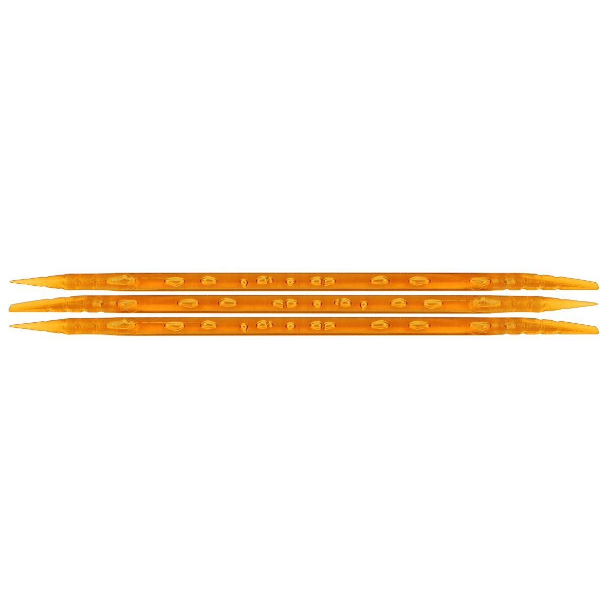 Palito Plástico Laranja Para Manicure Descartável 100 Unidades