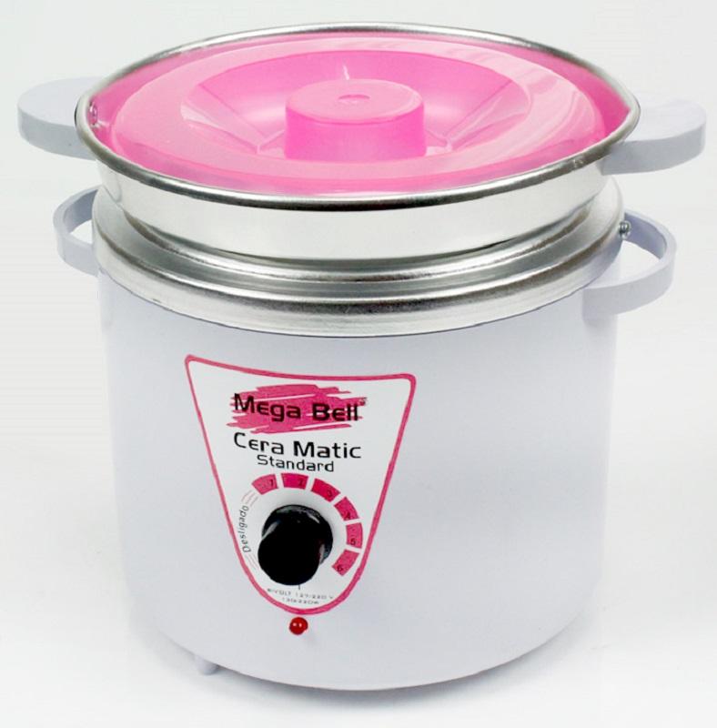 Panela Termocera para depilação Standard 900g - Bivolt Branca Com Rosa Com Refil