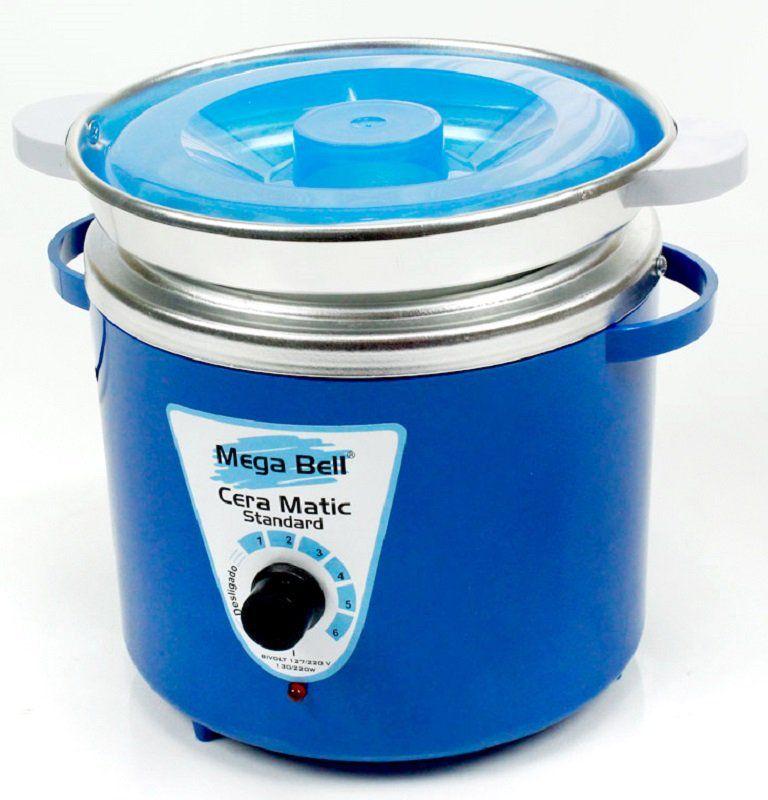 Panela Termocera para depilação Standard 900g - Bivolt Corpo Azul Com Refil