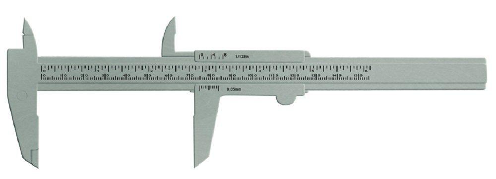 Paquímetro Plástico Prata 15 cm - Santa Clara