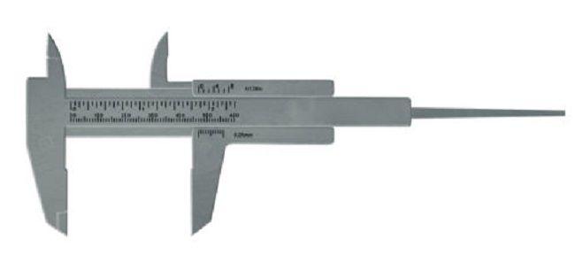 Paquímetro Prata 6cm Para Designer de Sobrancelha