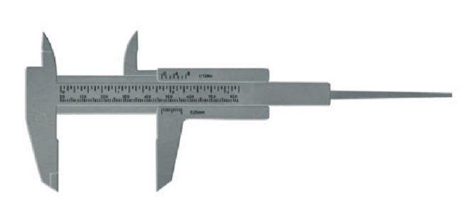 Paquímetro Prata 8cm Para Designer de Sobrancelha