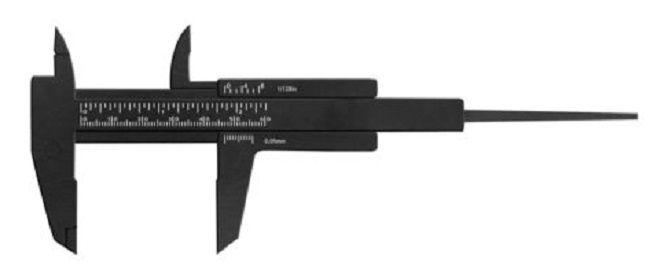 Paquímetro Preto 6cm Para Designer de Sobrancelha