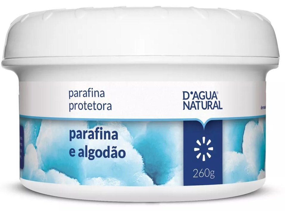 Parafina Protetora Parafina e Algodão - D'água Natural 260g