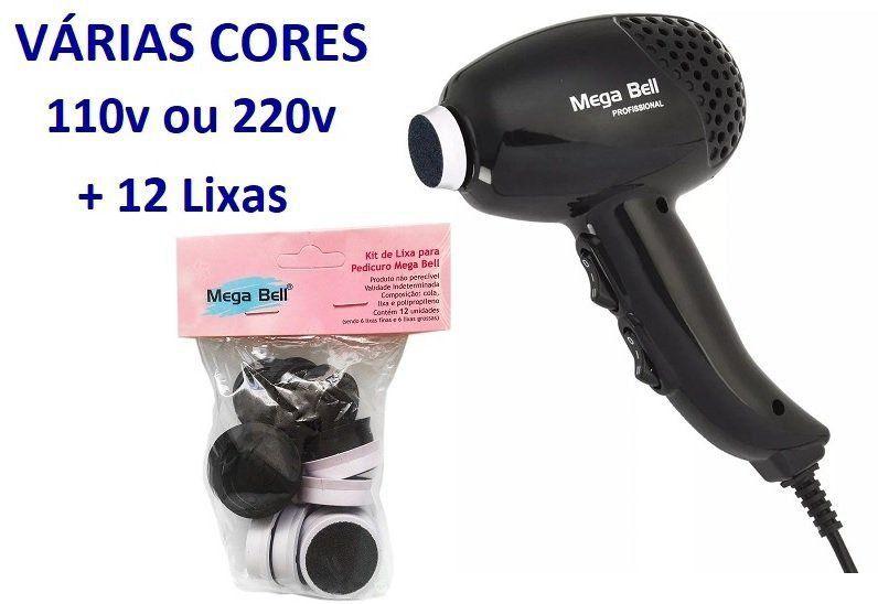 Pedicuro Elétrico Esfoliador Lixa Elétrica para os Pés + 12 Lixas Descartáveis (Escolha a Cor e Voltagem)
