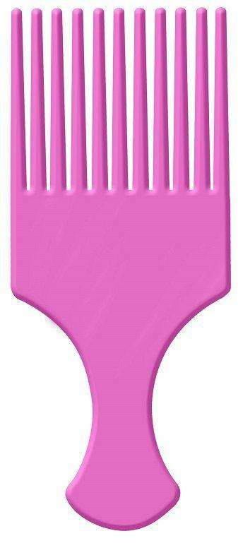 Pente Afro Pink Com Dentes Largos - Santa Clara