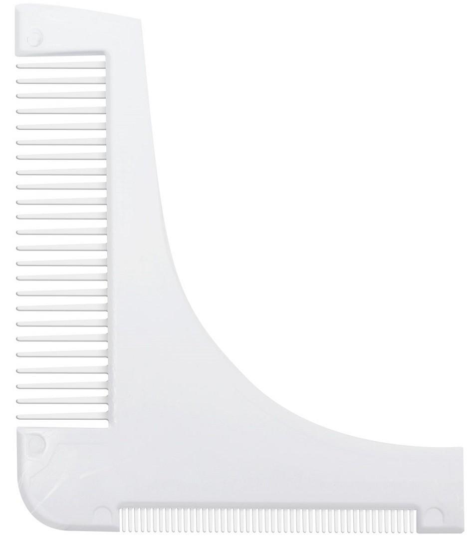 Pente Branco Modelador / Alinhador de Barba - Santa Clara