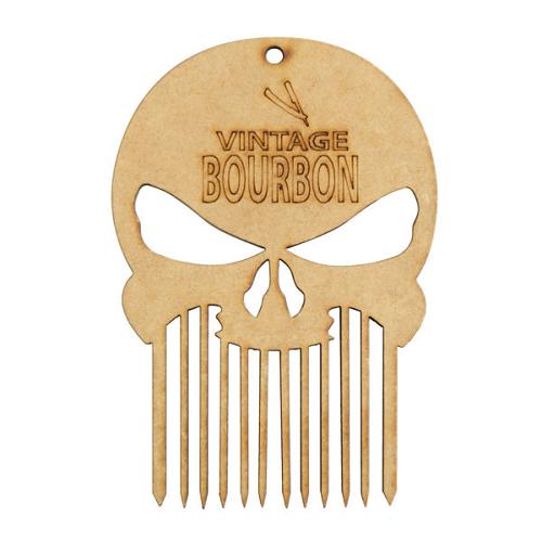 Pente De Madeira Para Barbearia Vintage Bourbon
