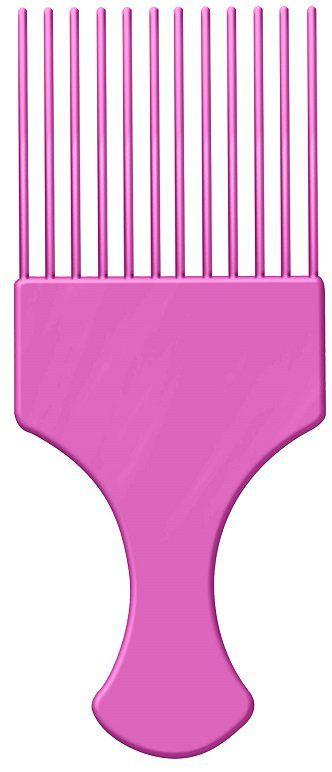 Pente Plástico Afro Pink Com Dentes Finos - Santa Clara