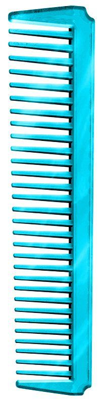 Pente Plástico Espetacular Em PS Cristal- Azul