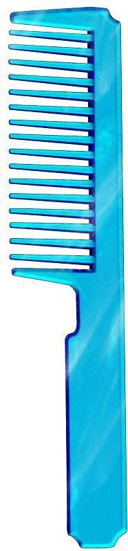 Pente Plástico Esplêndido em PS Cristal Azul - Santa Clara