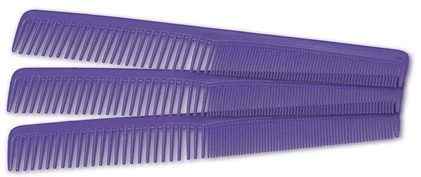 Pente Plástico Pequeno Modelo Comare Lilás Suporta 180º - 01 Ou 12 Unidades