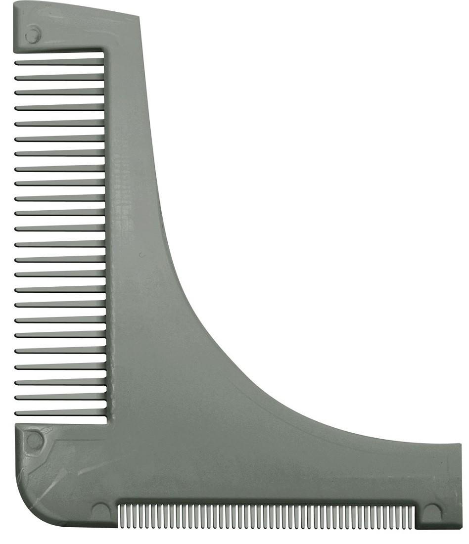 Pente Prata Modelador / Alinhador de Barba - Santa Clara